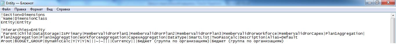 Файл для загрузки метаданных с подразделениями организации