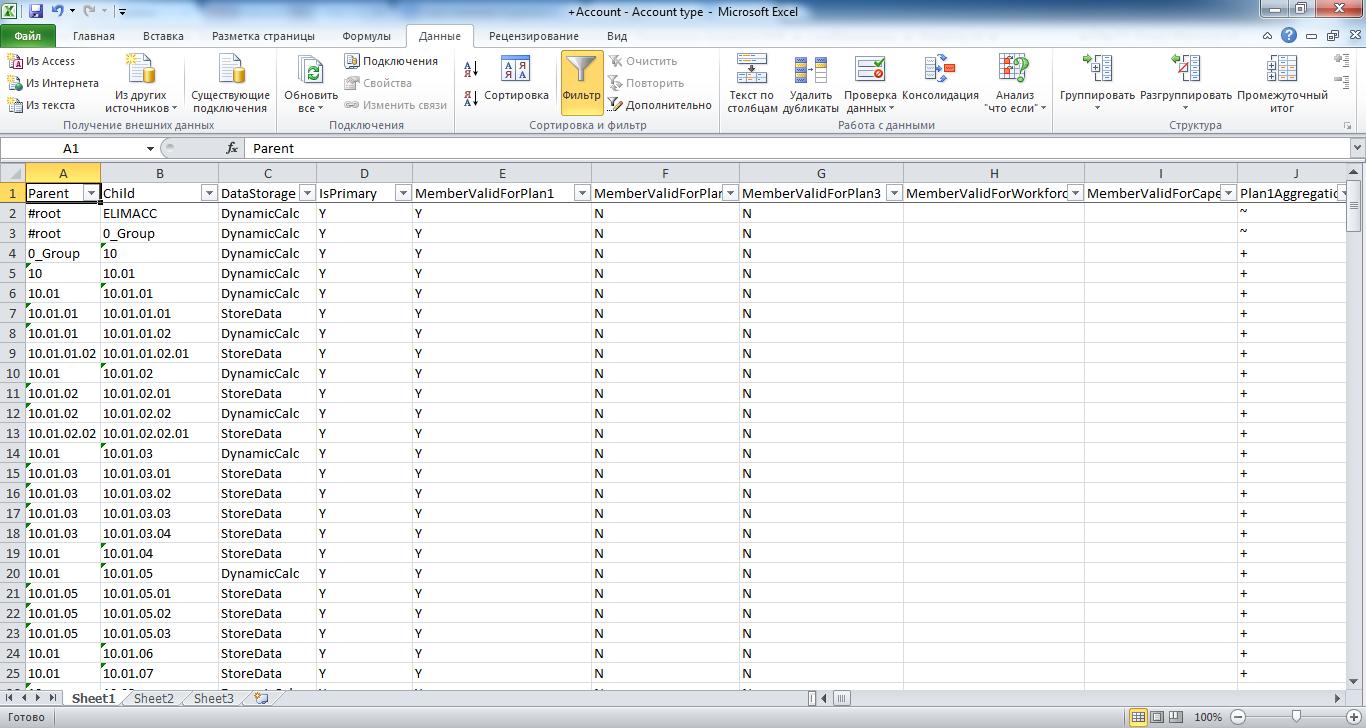 Правка файла загрузки метаданных измерения