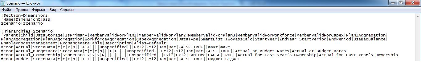 Файл для загрузки метаданных со сценариями