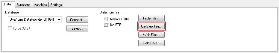 Бинарная загрузка данных из QVW