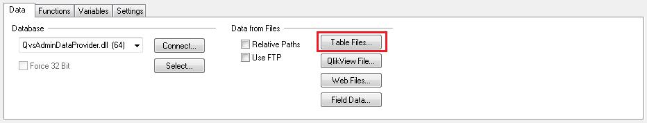 Загрузка текстовых файлов в QlikView