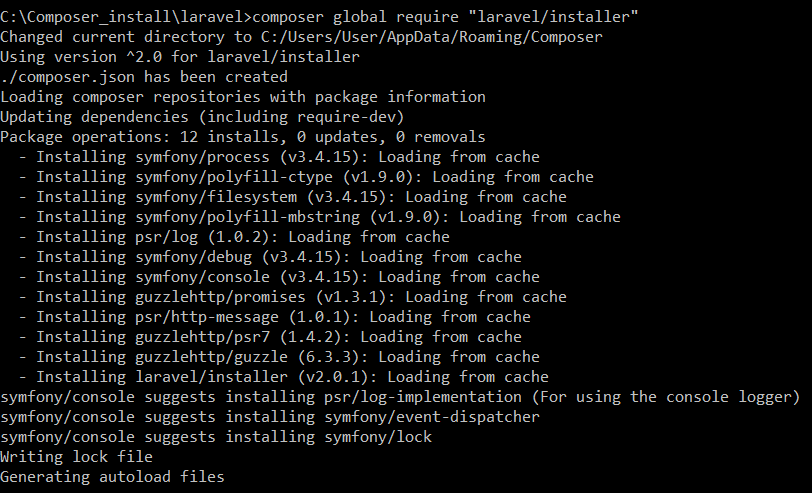 "composer global require ""laravel/installer"""
