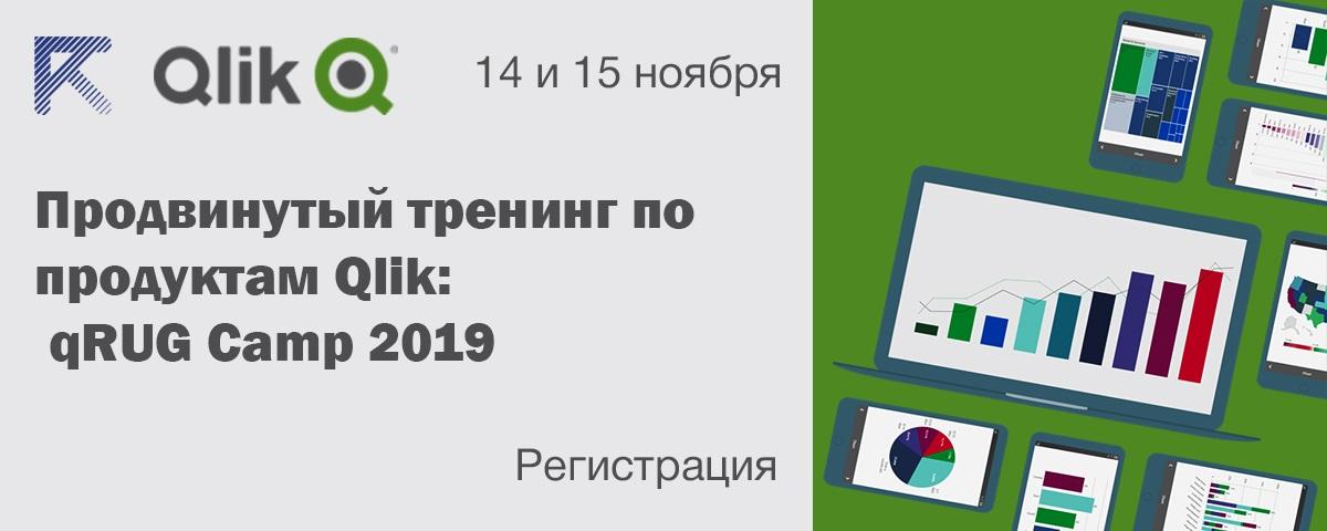 Тренинг по Qlik: qRUG Camp 2019, 14-15 ноября